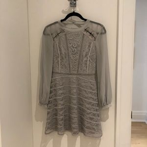 TopShop dress. Lace. Grey. Size US 4.